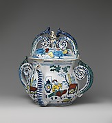 Posset pot with cover