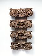 Set of four pilaster capitals