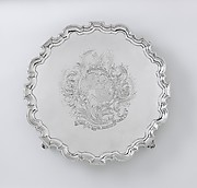 Salver with arms of Judith Jodrell