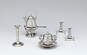 Miniature kettle with stand and brazier