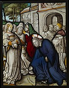 Christ and the Woman Taken in Adultery (one of a set of 12 scenes from The Life of Christ)