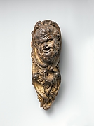 Satyr head harp ornament