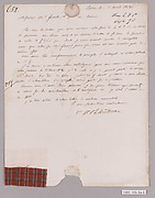 Letter with textile samples