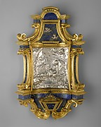Holy-water stoup with relief of Mary of Egypt