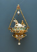 Pendant with a Triton Riding a Unicorn-like Sea Creature