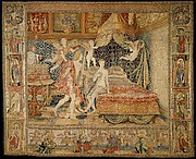 The Bridal Chamber of Herse, from a set of eight tapestries depicting the Story of Mercury and Herse