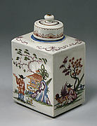 Tea caddy with cover