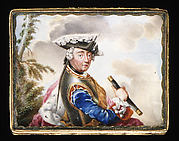 Snuffbox cover with portrait of Frederick the Great (1712–1786), King of Prussia