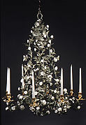 Eight-light chandelier