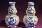 Double-gourd vase (one of a pair)