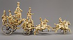 Automaton in the form of a triumphal chariot drawn by four horses