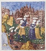 Aeneas Fleeing Troy with Anchises, Creusa, and Ascanias (Aeneid, Book II)