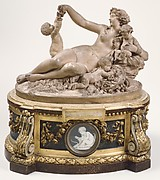 Bacchante with grapes and three infants