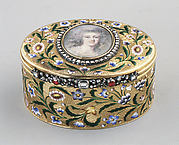 Snuffbox with portrait of a woman, said to be the Princesse de Lamballe