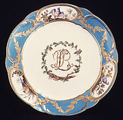 Plate (assiette à palmes) (one of four) (part of a service)