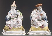 Chinese couple as incense containers