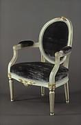 Oval-back armchair