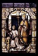 Saint Leo and a canon