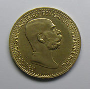 Austrian 10 crown-piece commemorating the 60th year of the reign of Emperor Francis Joseph