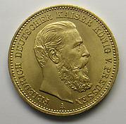 20-mark piece, Frederick I, German Emperor, 1888