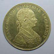 Quad ducat of Francis Joseph I, Emperor of Austria