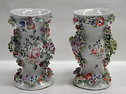 Pair of mantlepiece vases