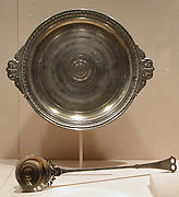Covered bowl with ladle and tray