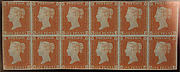 """Penny Red Brown"" postage stamps"