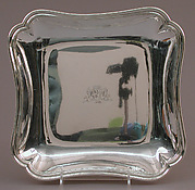 Square dish (one of a pair)