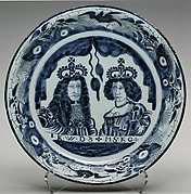 Charger with double portrait of William III and Mary II