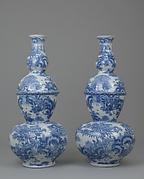 """Pair of """"triple-gourd"""" vases"""