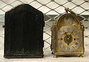 Traveling clock and case