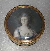 Box with portrait of a woman, said to be Princesse de Ligne
