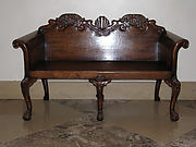 Pair of hall benches
