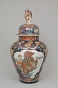Covered  jar (part of a five-piece garniture)