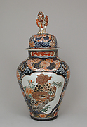 Covered  jar (part of a five-piece garniture)