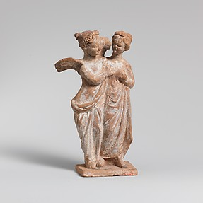 Terracotta statuette of Eros and Psyche