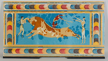 Reproduction of the Bull Leapers Fresco