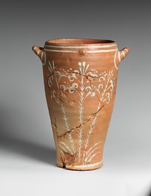Reproduction of a jar with lilies