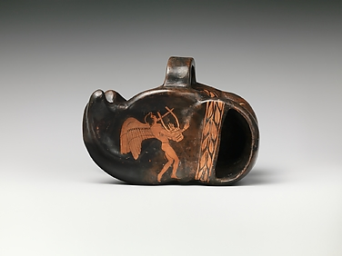 Terracotta vase in the form of an astragal (knucklebone)