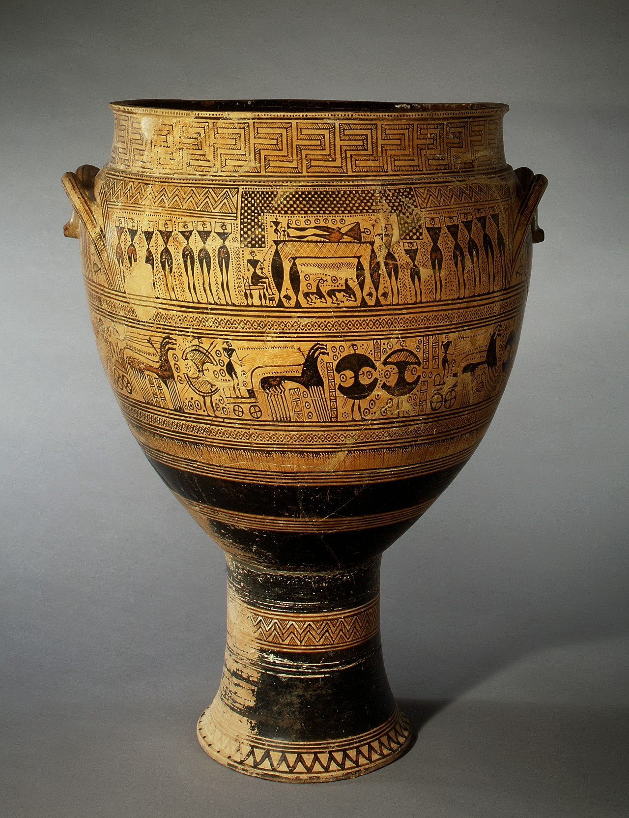 Attributed To The Hirschfeld Workshop Terracotta Krater