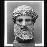 Marble head of a herm