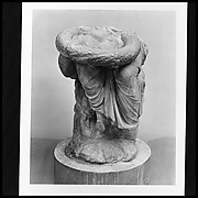 Lower part of a marble seated statue of Hygieia