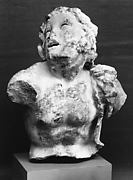 Marble statuette of a satyr
