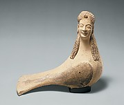 Terracotta statuette of a siren