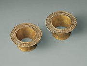 Pair of gold roundels