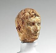 Ivory portrait head of the emperor Augustus