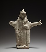 Terracotta statuette of a woman from a ring dance