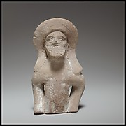 Terracotta statuette fragment of a male votary