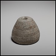 Conical spindle-whorl with flat base